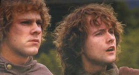 Merry and Pippin from the movie of Lord of the Rings